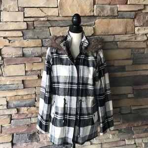 BSweet Clothing Co Plaid Jacket Coat Faux …